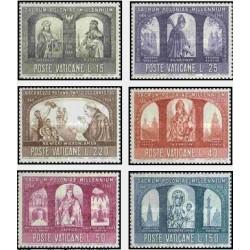 6 عدد تمبر هزارمین سال مسیحیت - واتیکان 1966