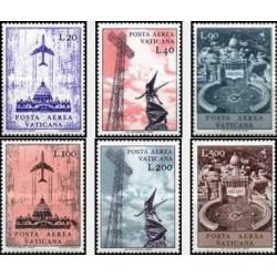 6 عدد تمبر سری پستی - هوائی - واتیکان 1967