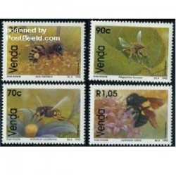 4 عدد تمبر زنبورها - وندا - آفریقای جنوبی 1992