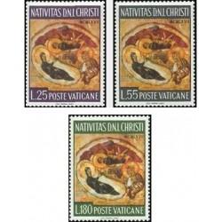 3 عدد تمبر کریستمس  - واتیکان 1967