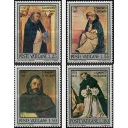 4 عدد تمبر 800مین سال تولد دومنیکوس مقدس - تابلو نقاشی - واتیکان 1971