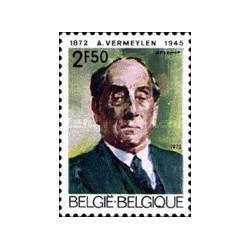 1 عدد تمبر یادبود پرتره آگوست ورمیلن - نویسنده - بلژیک 1972