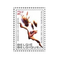 1 عدد تمبر امنیت آتش - بلژیک 1973