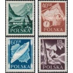 4 عدد تمبر ورزشی - پیاده روی - لهستان 1956