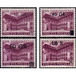 4 عدد تمبر سال مقاومت - سورشارژ - لهستان 1956