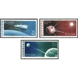 3 عدد تمبر ماهواره ها - لهستان 1959