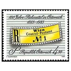 1 عدد تمبر صدمین سال برچسب های سفارشی - اتریش 1985