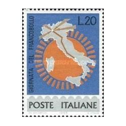 1 عدد تمبر روز تمبر - ایتالیا 1965