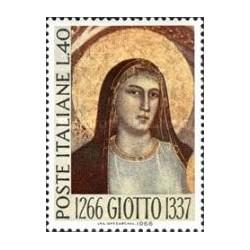 1 عدد تمبر یادبود هفتصدمین سال تولد گیوتو - نقاش - ایتالیا 1966