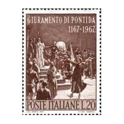 1 عدد تمبر سوگند پونتیدا - ایتالیا 1967