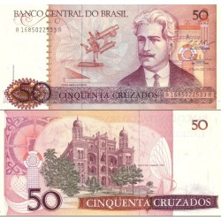 اسکناس 50 کروزادوس - برزیل 1988