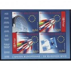 سونیرشیت اعضا جدید اتحادیه اروپا - بلژیک 2004 قیمت روی شیت 2.2 یورو