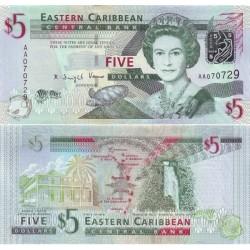 اسکناس 5 دلار - کارائیب شرقی 2008