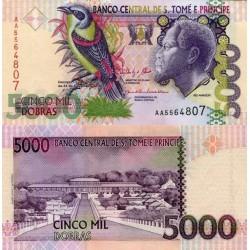 اسکناس 5000 دوبراس - سنت توماس 2013 - با دو نخ امنیتی