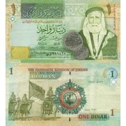 اسکناس 1 دینار - اردن 2011