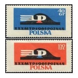 2 عدد تمبر سی امین نمایشگاه بازرگانی پوژنان - لهستان 1961
