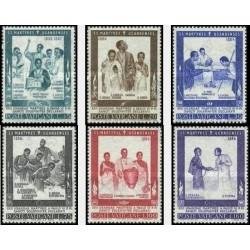 6 عدد تمبر شهدای اوگاندا - واتیکان 1965
