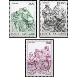 3 عدد تمبر 400مین سالگرد تقویم میلادی - واتیکان 1982