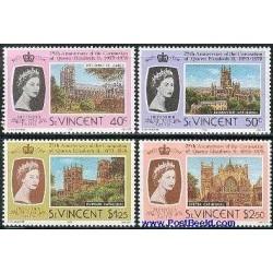 عدد تمبر  25مین سال تاجگذاری ملکه الیزابت دوم - سنت وینسنت 1978