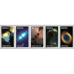 5 عدد تمبر تصاویر تلسکوپ فضائی هابل - B - آمریکا 2000