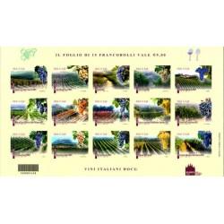 سونیرشیت انواع گونه های انگور - خودچسب - ایتالیا 2012 ارزش روی شیت 9 یورو