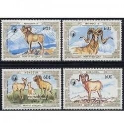 4 عدد تمبر حیوانات حفاظت شده - مغولستان 1987 قوچها