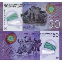 اسکناس پلیمر 50 کوردوباس - نیکاراگوئه 2014 سفارشی - توضیحات را ببینید