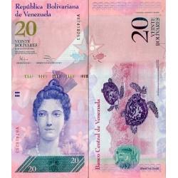 اسکناس 20 بولیوار - ونزوئلا 2014