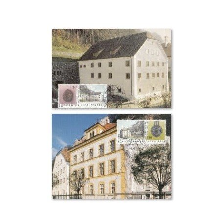 2 عدد ماکزیشمم کارت موزه های ملی - لیختنشتاین 2003