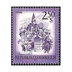 1 عدد تمبر سری پستی مناظر - اتریش 1974