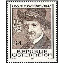 1 عدد تمبر یادبود لئو اسلزاک - خواننده اپرا - اتریش 1973