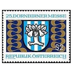 1 عدد تمبر نمایشگاه دورنبیرن - اتریش 1973