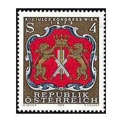 1 عدد تمبر کنوانسیون سرویسهای مبتنی بر محل - IULCS - اتریش 1973