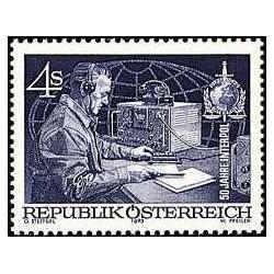 1 عدد تمبر پنجاهمین سال پلیس بین الملل - اینترپل - اتریش 1973