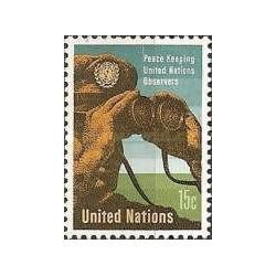 1 عدد تمبر ناظران نظامی سازمان ملل - نیویورک - سازمان ملل 1966