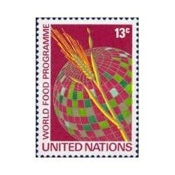 1 عدد تمبر برنامه جهانی غذا - نیویورک - سازمان ملل 1971