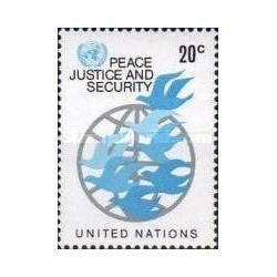 1 عدد تمبر سری پستی - نیویورک - سازمان ملل 1979