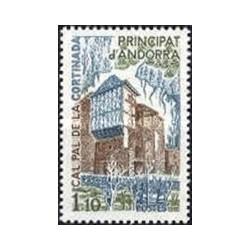 1 عدد تمبر کاخ کال پال در کورتینادا - فرانسه آندورا 1980