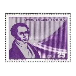 1 عدد تمبر صدمین سال مرگ مرکادانته - آهنگساز - ایتالیا 1970