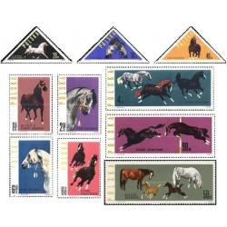 10 عدد تمبر اسبها -  لهستان 1963