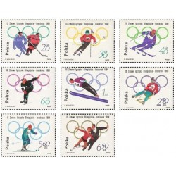 8 عدد تمبر المپیک زمستانی - اینزبروک ، اتریش - لهستان 1964 قیمت 5.3 دلار