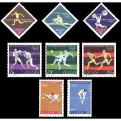 8 عدد تمبر بازیهای المپیک توکیو - لهستان 1964