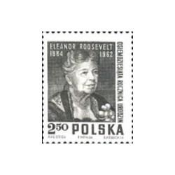 1 عدد تمبر یادبود الینور روزولت - دیپلمات و نویسنده آمریکائی - لهستان 1964