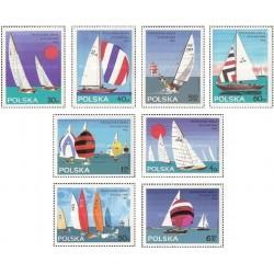 8 عدد تمبر مسابقات جهانی قایقهای بادبانی - لهستان 1965 دلار