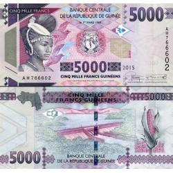اسکناس 5000 فرانک - گینه 2015