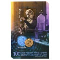 مینی شیت صدمین سال جایزه نوبل شیمی ماری کوری - تمبر مشترک با سوئد - لهستان 2011