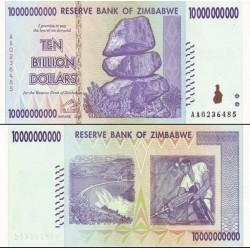 اسکناس 10 میلیارد دلار- 10000000000 دلار - زیمباوه 2008