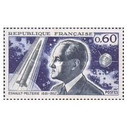1 عدد تمبر یادبود روبرت انسالت - تئوریسین پروازهای فضائی - فرانسه 1967