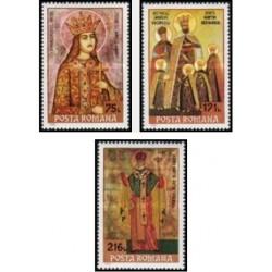 3 عدد تمبر تابلو نقاشی شمایلها - رومانی 1993