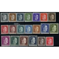 20 عدد تمبر سری پستی هیتلر - - سورشارژ Ostland - بلاروس 1941